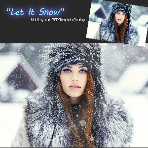 let it snow - elements and photoshop