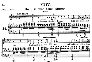 Du bist wie eine blume Op 25 No.4, Medium Voice in G Flat Major, R. Schumann (Myrten), C.F. Peters | eBooks | Sheet Music