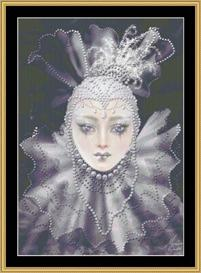 Silver Pierrette - Maxine Gadd   Crafting   Cross-Stitch   Other