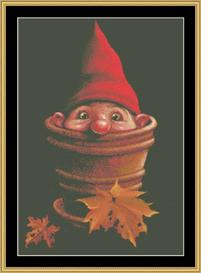 Potted Gnome - Maxine Gadd | Crafting | Cross-Stitch | Other