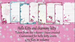 Printable Stationary Designs: Custom Stationary Selection Volume Hello Kitty | Other Files | Graphics