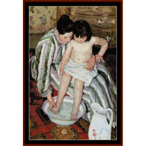 La Toilette - Cassatt cross stitch pattern by Cross Stitch Collectibles | Crafting | Cross-Stitch | Other