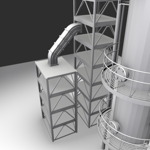 First Additional product image for - Industrial Tower 3D Model