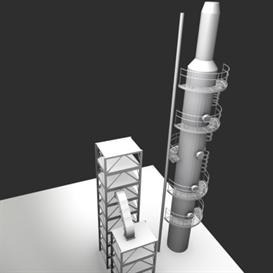 Industrial Tower 3D Model | Other Files | Clip Art