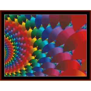 fractal 116 cross stitch pattern by cross stitch collectibles
