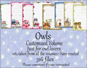 Printable Stationary Designs Custom Stationary Selection Volume Owls | Other Files | Graphics