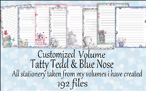 Printable Stationary Designs Custom Stationary Selection Volume Tatty Ted & Blue Nose | Other Files | Graphics