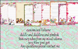 Printable Stationary Designs Custom Stationary Selection Volume Diddl & Diddlina and Pimboli | Other Files | Graphics
