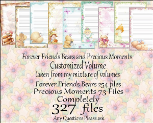 "printable stationery designs: custom stationery selection volume ""forever friends bears and precious moments"""