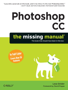 photoshop cc: the missing manual by lesa snider