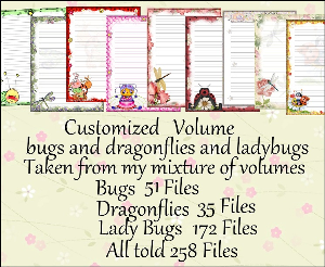 "Printable Stationery Designs: Custom Stationery Selection Volume ""Bugs, Dragonflies & Ladybugs"" 