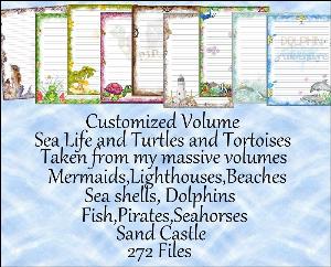 "Printable Stationery Designs: Custom Stationery Selection Volume ""Sea Life, Turtles & Tortoises"" | Other Files | Graphics"