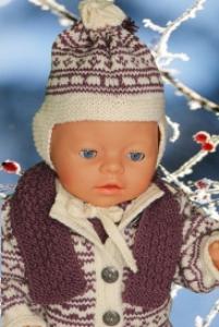 DollKnittingPatterns - 0124D JUNE - Kofte, dress, 2 Luer, skjerf, sokker/sko-(Norsk) | Crafting | Knitting | Other