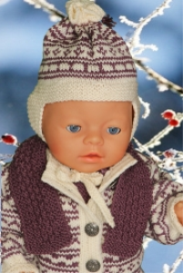 DollKnittingPatterns -0124D JUNE - Jacke, Anzug, Mütze, Schal und Schuhe-(Deutsch) | Crafting | Knitting | Baby and Child