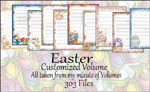 "Printable Stationery Designs: Custom Stationery Selection Volume ""Easter"" 