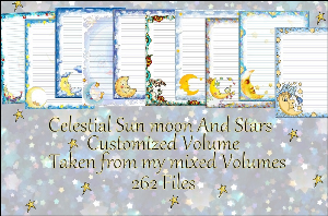 "Printable Stationery Designs: Custom Stationery Selection Volume ""Celestial Sun moon And Stars"" 