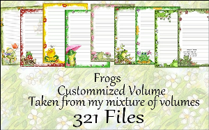 "Printable Stationery Designs: Custom Stationery Selection Volume ""Frogs"" 
