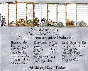 "printable stationery designs: custom stationery selection volume ""animals realistic"""