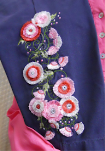 Fimbria Flowers 5x7 - VP3   Crafting   Embroidery