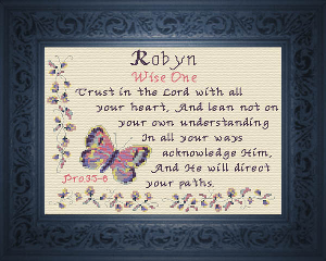 Name Blessings -  Robyn | Crafting | Cross-Stitch | Religious