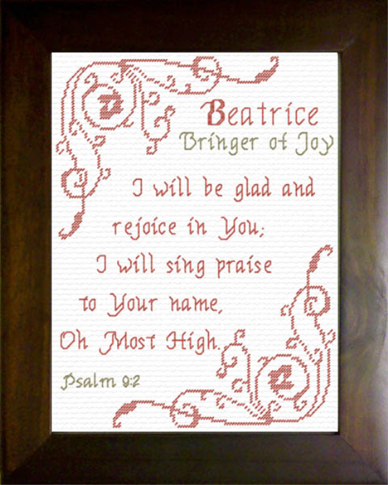 First Additional product image for - Name Blessings -  Beatrice