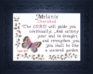 Name Blessings -  Melanie | Crafting | Cross-Stitch | Religious