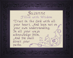 Name Blessings -  Suzanne | Crafting | Cross-Stitch | Other