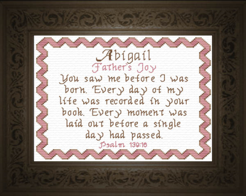 First Additional product image for - Name Blessings -  Abigail 4