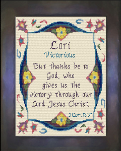 Name Blessings -  Lori | Crafting | Cross-Stitch | Religious