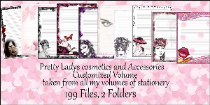 "Printable Stationery Designs: Custom Stationery Selection Volume ""Pretty Ladies, Cosmetics and Accessories"" 