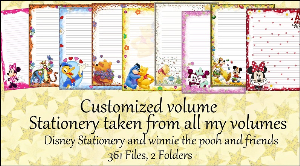 "printable stationery designs: custom stationery selection volume ""disney stationery and winnie the pooh and friends"""