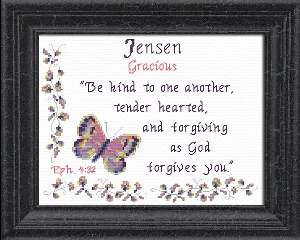 Name Blessings -  Jensen | Crafting | Cross-Stitch | Religious