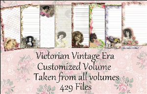 "Printable Stationery Designs: Custom Stationery Selection Volume ""Victorian Vintage Era"" 