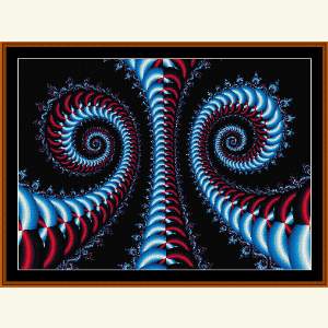 Fractal 490 cross stitch pattern by Cross Stitch Collectibles   Crafting   Cross-Stitch   Wall Hangings