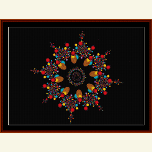 Fractal 491 cross stitch pattern by Cross Stitch Collectibles | Crafting | Cross-Stitch | Wall Hangings