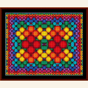 Fractal 492 cross stitch pattern by Cross Stitch Collectibles | Crafting | Cross-Stitch | Wall Hangings