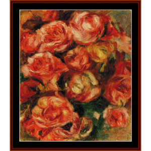Bouquet of Roses III - Renoir cross stitch pattern by Cross Stitch Collectibles | Crafting | Cross-Stitch | Wall Hangings