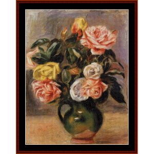Bouquet of Roses - Renoir cross stitch pattern by Cross Stitch Collectibles | Crafting | Cross-Stitch | Wall Hangings