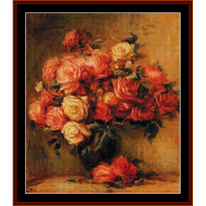 Bouquet of Roses II - Renior cross stitch pattern by Cross Stitch Collectibles | Crafting | Cross-Stitch | Wall Hangings