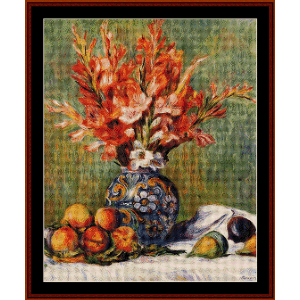 Flowers and Fruit, 1889 - Renoir cross stitch pattern by Cross Stitch Collectibles | Crafting | Cross-Stitch | Wall Hangings