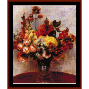 Flowers in a Vase - Renoir cross stitch pattern by Cross Stitch Collectibles | Crafting | Cross-Stitch | Wall Hangings