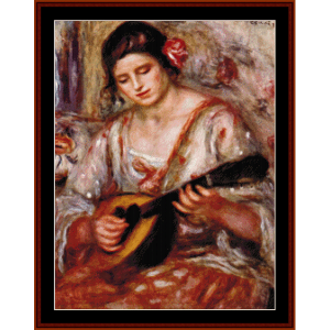 Girl with a Mandolin, 1918 - Renoir cross stitch pattern by Cross Stitch Collectibles | Crafting | Cross-Stitch | Other