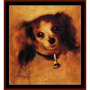 Head of a Dog, 1870 - Renoir cross stitch pattern by Cross Stitch Collectibles | Crafting | Cross-Stitch | Wall Hangings