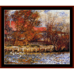 The Duck Pond, 1873 - Renoir cross stitch pattern by Cross Stitch Collectibles | Crafting | Cross-Stitch | Wall Hangings