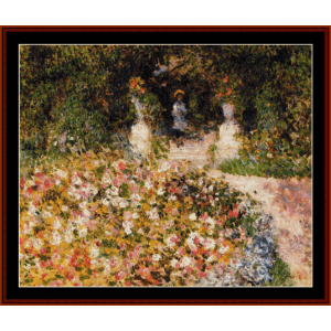 The Garden - Renoir cross stitch pattern by Cross Stitch Collectibles | Crafting | Cross-Stitch | Wall Hangings