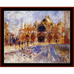 Piazza San Marco, 1881 - Renoir cross stitch pattern by Cross Stitch Collectibles | Crafting | Cross-Stitch | Wall Hangings