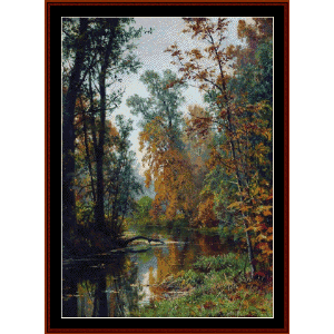 Park in Pavlosk, 1888 -Shishkin cross stitch pattern by Cross Stitch Collectibles | Crafting | Cross-Stitch | Wall Hangings