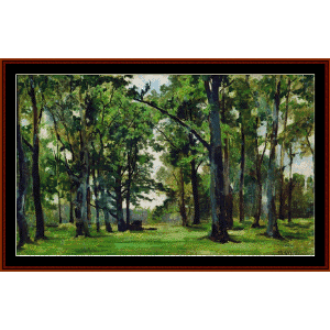 Oaks -Shishkin cross stitch pattern by Cross Stitch Collectibles | Crafting | Cross-Stitch | Wall Hangings