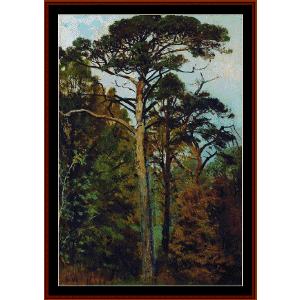Pines - Shishkin cross stitch pattern by Cross Stitch Collectibles | Crafting | Cross-Stitch | Wall Hangings
