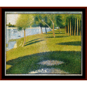 La Grande Jatte, 1884 - Seurat cross stitch pattern by Cross Stitch Collectibles | Crafting | Cross-Stitch | Wall Hangings